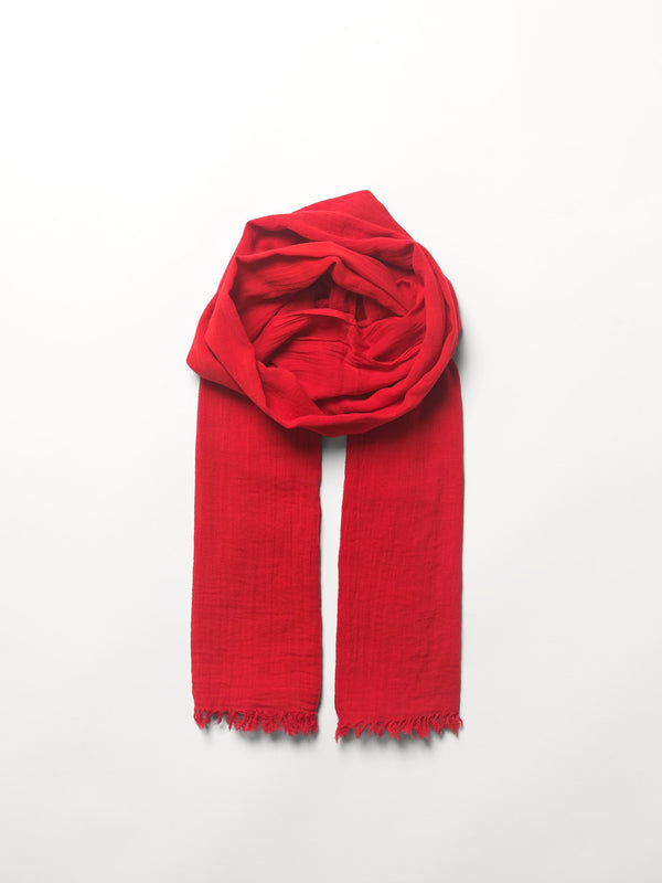 Becksöndergaard, Solid Gaze Ilkana Scarf - Fiery Red, scarves, scarves, mid season sale, mid season sale, gifts