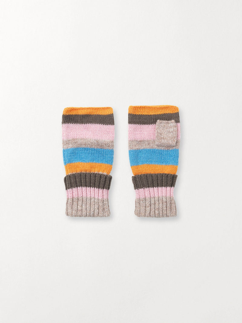 Becksöndergaard, Ember Lovely Stripes Mittens - Light Blue, outlet flash sale, outlet flash sale
