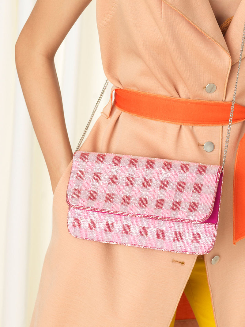 Becksöndergaard, Tipo Check bag - Rose , bags, bags, outlet, bags, outlet