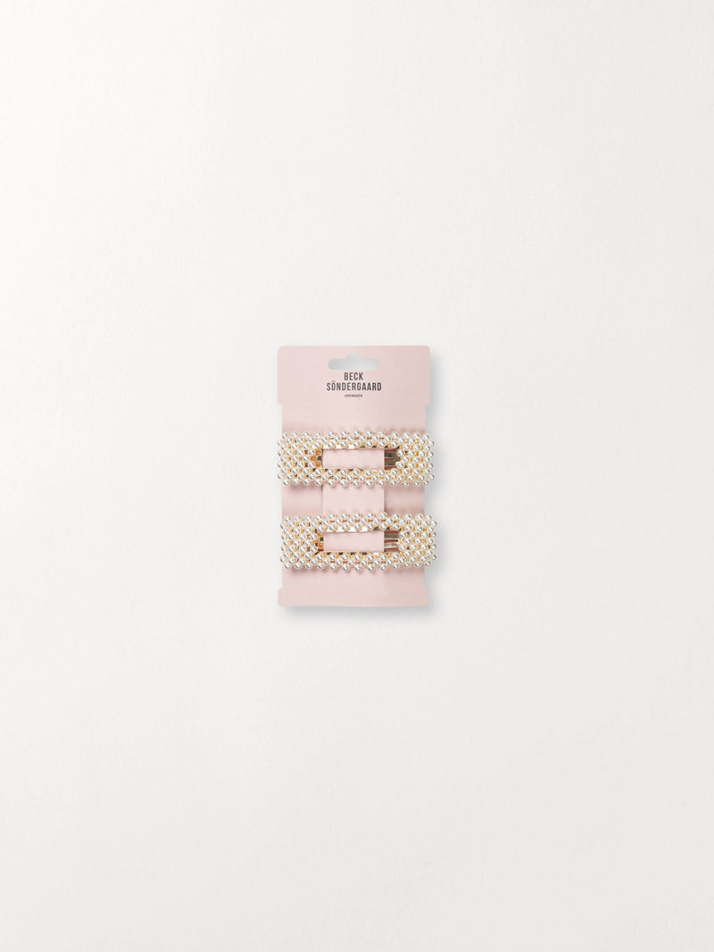 Becksöndergaard, Camma Pearl Clip - White, outlet flash sale, outlet flash sale