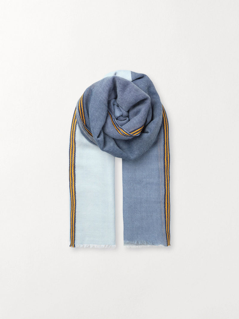 Becksöndergaard, Zula Scarf - Blue, outlet flash sale, outlet flash sale