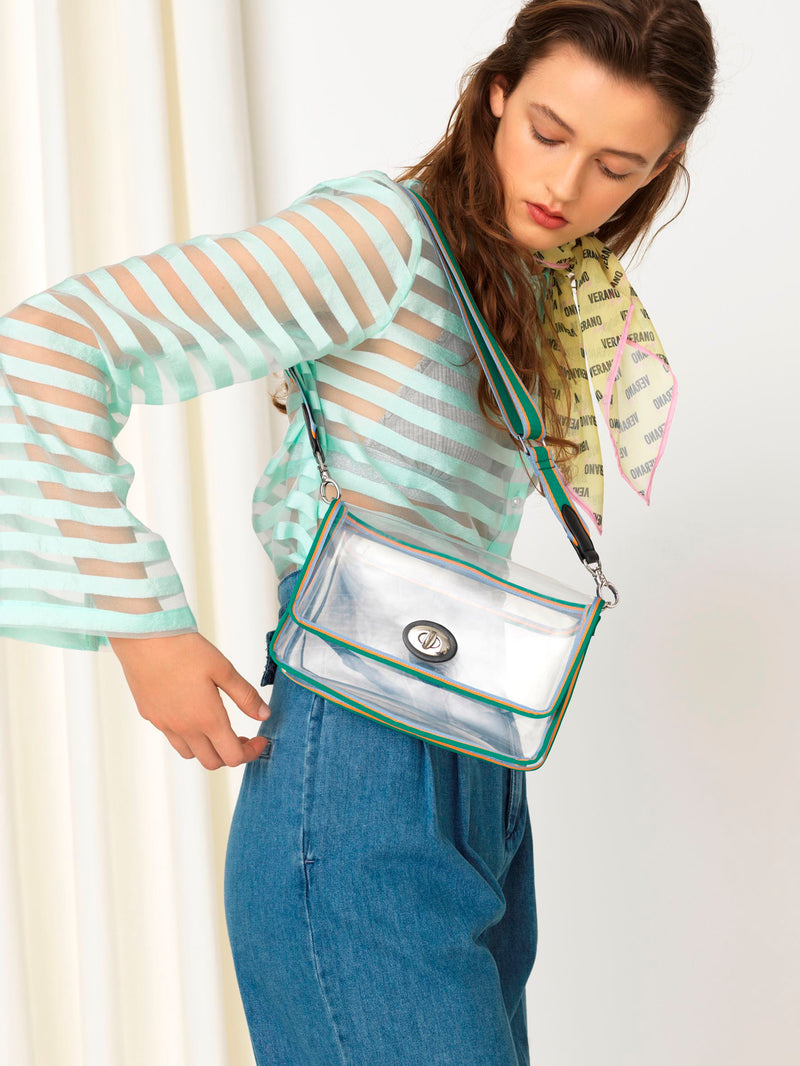 Becksöndergaard, Villa Graphic Bag - Clear Green, bags, bags, outlet, outlet