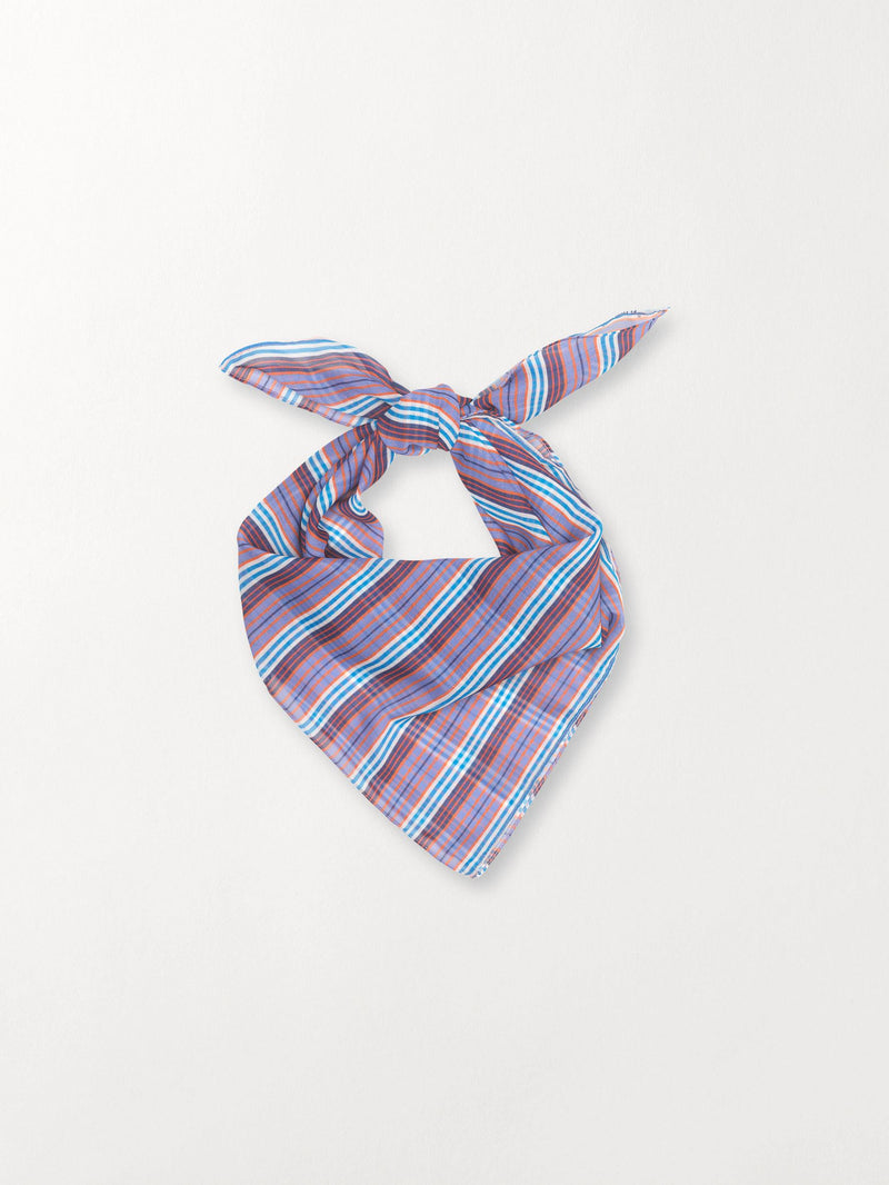 Becksöndergaard, Stria Scarf - Blue, outlet flash sale, outlet flash sale