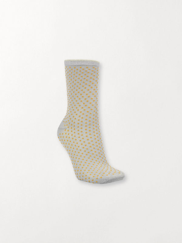 Becksöndergaard, Dina Small Dots Coll. - Honey Yellow, socks, socks, socks
