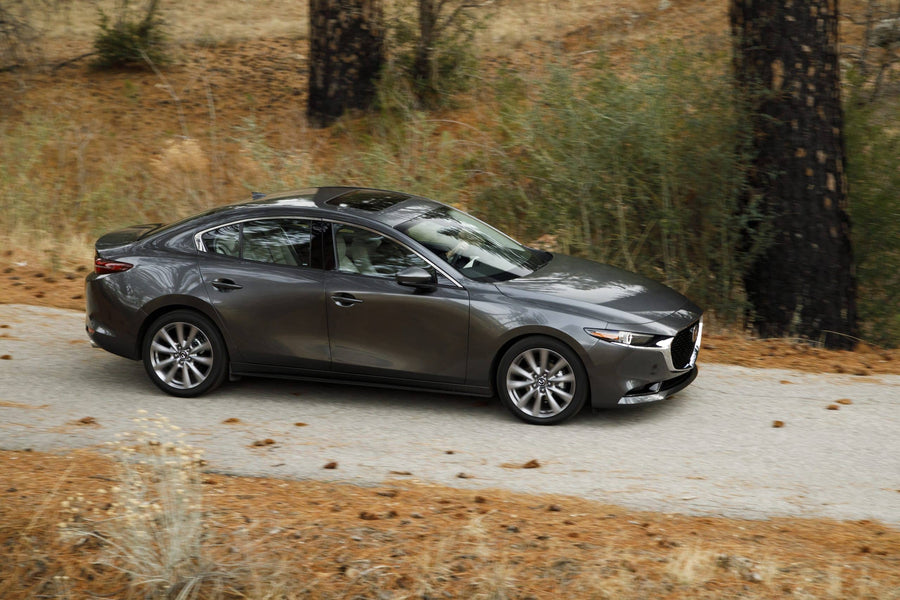 Mountain Wheels: The heavily evolved Mazda3 sedan achieves luxurious stature