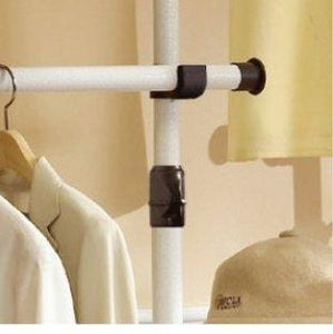 Discover prince hanger deluxe 4 tier shelf hanger with curtain clothing rack closet organizer phus 0061