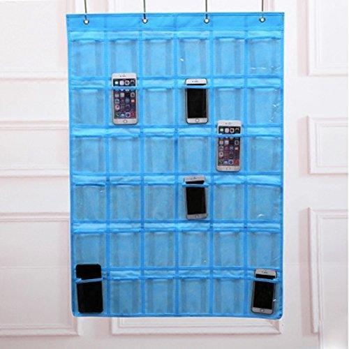 Great lecent classroom pocket chart for cell phones business cards 36 pockets wall door closet mobile hanging storage bag organizer clear pocket