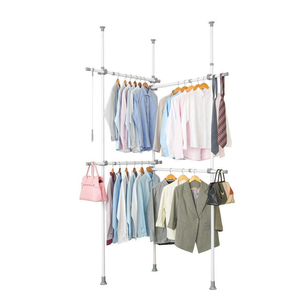 Top rated garment racks adjustable closet organizer with 440lb load heavy duty hang clothes rack for storage and display 55 x 97 expands to 102 x 119