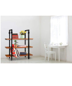 Best seller  sprawl 5 tier vintage bookshelf free standing multi purpose open wooden book storage shelves ladder shelf closet organizer