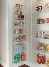 Load image into Gallery viewer, Explore closetmaid 1233 adjustable 8 tier wall and door rack 77 inch height x 18 inch wide