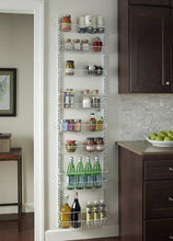 Load image into Gallery viewer, Exclusive closetmaid 1233 adjustable 8 tier wall and door rack 77 inch height x 18 inch wide