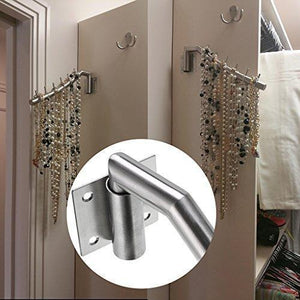 Results sumnacon 12 6 wall mounted clothes hanger rack set of 2 stainless steel garment hooks with swing arm holder space saver clothing and closet rod storage organizer for laundry room bedrooms bathrooms
