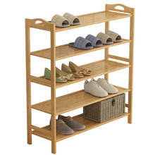 Load image into Gallery viewer, Try gx xd simple multi layer bamboo shoe rack dust proof multifunction shoe tower shoe cabinet space saving easy to assemble shoe organizer unit entryway shelf organize your closet cabinet or entryway r