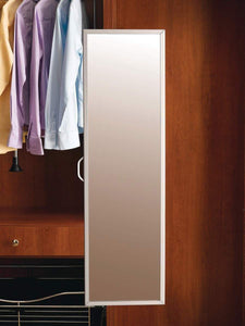New rev a shelf pullout closet mirror satin nickel