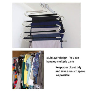 Great pants hangers 4 pack scarf hangers s type clothes pant hangers multi purpose pants hanger space saving non slip closet organizer for scarfs jeans clothes trousers towels