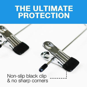 Heavy duty 4 tier pants hanger 2 pack trouser hanger skirt hangers with non slip black vinyl clips heavy duty metal hangers ultra thin space saving clothes hangers to organize closet jeans scarf slacks