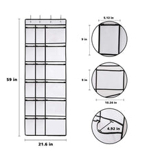 Load image into Gallery viewer, Featured kootek 2 pack over the door shoe organizers 12 mesh pockets 6 large mesh storage various compartments hanging shoe organizer with 8 hooks shoes holder for closet bedroom white 59 x 21 6 inch