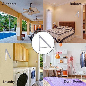 Shop here stock your home folding clothes hanger wall mounted retractable clothes drying rack laundry room closet storage organization aluminum easy installation silver