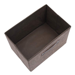 Try dmjwn foldable cloth storage tool box bin storage basket lid collapsible linen and handles organizer bins single handle for home closet office car boot brown