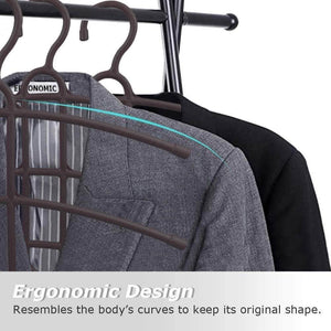 Best upra shirt hangers space saving plastic 5 pack durable multi functional non slip clothes hangers closet organizers for coats jackets pants dress scarf dorm room apartment essentials