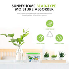 Load image into Gallery viewer, Amazon best sunny home moisture absorber for home odor eliminator dehumidifier and deodorizer for closet bathroom kitchen and more 16 pk