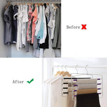 Load image into Gallery viewer, Online shopping clothes pants hangers 2pack multi layers metal pant slack hangers foam padded swing arm pants hangers closet storage organizer for pants jeans scarf hanging purple 4pack