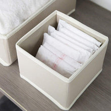 Load image into Gallery viewer, Featured diommell 6 pack foldable cloth storage box closet dresser drawer organizer fabric baskets bins containers divider with drawers for clothes underwear bras socks lingerie clothing