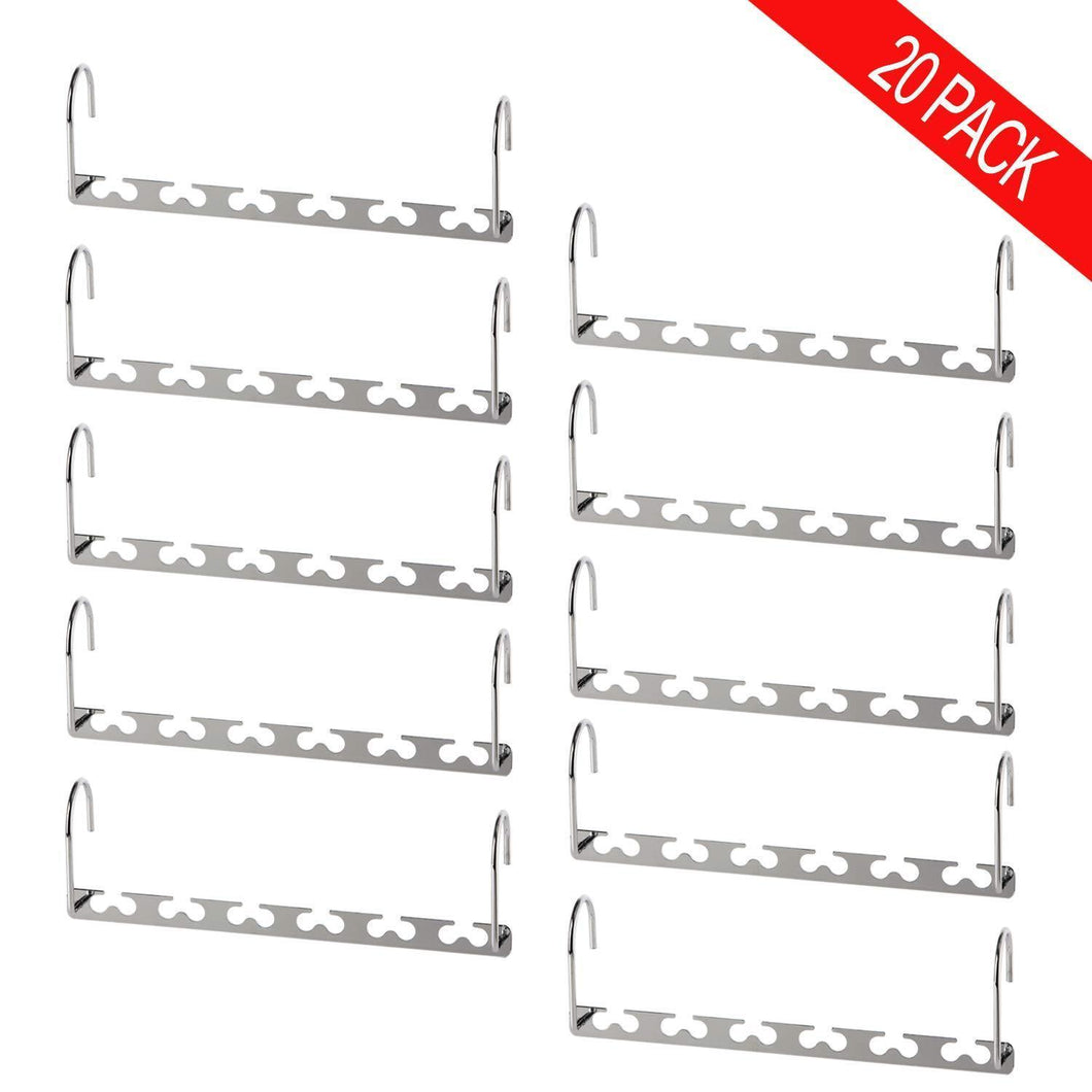 Related bloberey space saving hangers metal wonder magic cascading hanger 10 inch 6 x 2 slots closet clothing hanger organizers pack of 20