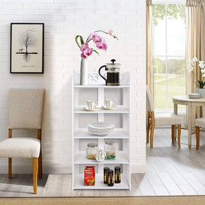 New ejoyous 5 tier shoes rack white wood plastic modern space saving display shoe tower free standing shoes storage organizer closet shelves holder container for home office support hold 10 pair