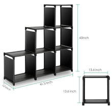 Load image into Gallery viewer, Budget tomcare cube storage 6 cube closet organizer shelves storage cubes organizer cubby bins cabinets bookcase organizing storage shelves for bedroom living room office black