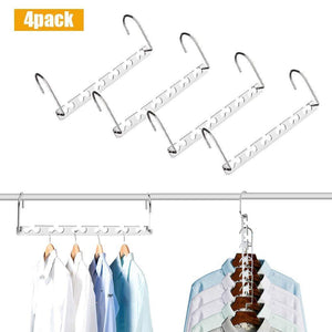 Shop here closet space saving hangers for clothes pants 10 5 inch metal wonder hangers stainless steel magic cascading hanger updated hook design closet organizer hanger