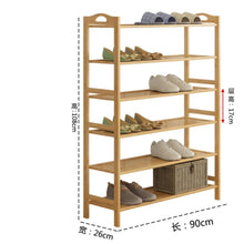 Load image into Gallery viewer, Top rated gx xd simple multi layer bamboo shoe rack dust proof multifunction shoe tower shoe cabinet space saving easy to assemble shoe organizer unit entryway shelf organize your closet cabinet or entryway r
