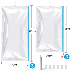 Cheap mrs bag hanging vacuum storage bags 6 pack 3jumbo57x27 6 3short41 3x27 6 space saver bag dress cover with hook for coats jackets clothes closet storage hand pump included