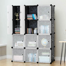 Load image into Gallery viewer, New tangkula diy storage cubes portable clothes closet wardrobe cabinet bedroom armoire diy storage organizer closet 12 cubes