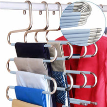 Load image into Gallery viewer, Order now doiown s type stainless steel clothes pants hangers closet storage organizer for pants jeans scarf hanging 14 17 x 14 96ins set of 3 5 pieces light blueupgrade style