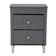 Load image into Gallery viewer, Try kamiler 2 drawer nightstand beside table end table storage organizer unit for bedroom hallway entryway closets no tool required to assemble