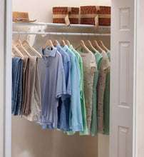 Load image into Gallery viewer, Get expandable closet rod and shelf units with 1 end bracket finish white