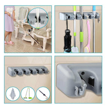 Load image into Gallery viewer, Related feir mop broom holder wall mounted kitchen hanging garage utility tool organizers and storage rack for commercial bathroom laundry room closet gardening