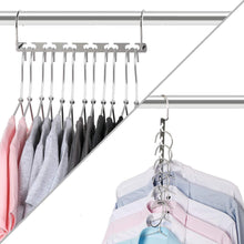 Load image into Gallery viewer, Save on bloberey space saving hangers metal wonder magic cascading hanger 10 inch 6 x 2 slots closet clothing hanger organizers pack of 20