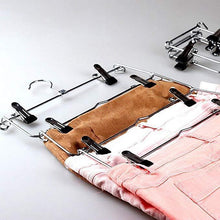 Load image into Gallery viewer, Select nice emstris space saving pants hangers sturdy multi purpose stainless steel pants jeans slack skirt hangers with clips non slip closet storage organizer