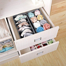 Load image into Gallery viewer, Products titan mall closet underwear organizer drawer foldable storage box drawer dividers dresser drawer organizers for underwear bras grey set of 4 dark grey