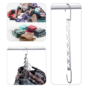 Order now doiown space saving hangers 4 pack closet organizer hanger stainless steel clothing hangers 4 pack