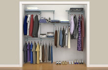 Load image into Gallery viewer, Select nice closetmaid 78809 shelftrack 5ft to 8ft adjustable closet organizer kit satin chrome
