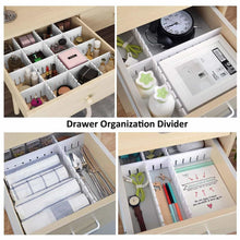 Load image into Gallery viewer, Order now e bayker drawer organizer drawer dividers diy arbitrary splicing sub grid household storage spacer finishing shelves for home tidy closet desk makeup socks underwear scarves 5 7x17 7in 5 pack