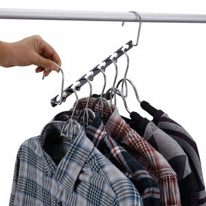 On amazon doiown space saving hangers 4 pack closet organizer hanger stainless steel clothing hangers 4 pack