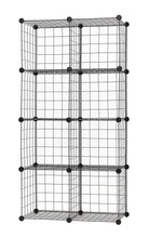 Load image into Gallery viewer, Exclusive finnhomy 12 storage cubes multi use diy wire grid organizer closet organizer shelf cabinet wire grids panels garage storage rack sets shelving units for books plants toys shoes clothes black
