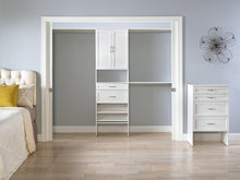 Load image into Gallery viewer, Kitchen closetmaid 24869 suitesymphony 25 inch starter tower kit pure white