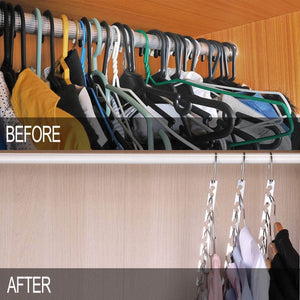 Discover the best meetu space saving hangers wonder multifunctional clothes hangers stainless steel 6x2 slots magic hanger cascading hanger updated hook design closet organizer hanger pack of 12