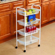 Load image into Gallery viewer, Best kitchen details simplify 4 drawer rolling utility storage cart organizer good for pantry office craft room garage closet classroom more 4 tier