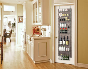 Latest home complete over the door organizer space saving hanging storage shelves for kitchen pantry closet for spices jars cleaning products and more
